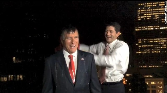 Paul Ryan gleefully dumps ice water on Mitt Romney