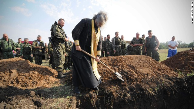 They came from a small village south of Donetsk near the front lines, their final resting place.