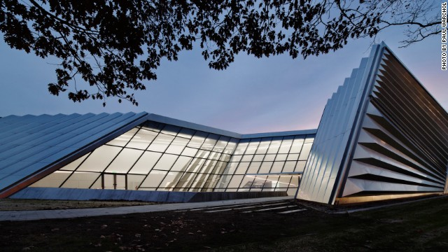 Michigan State University's new Eli and Edythe Broad Art Museum is the first-ever university building designed by Pritzker Prize-winning architect Zaha Hadid.