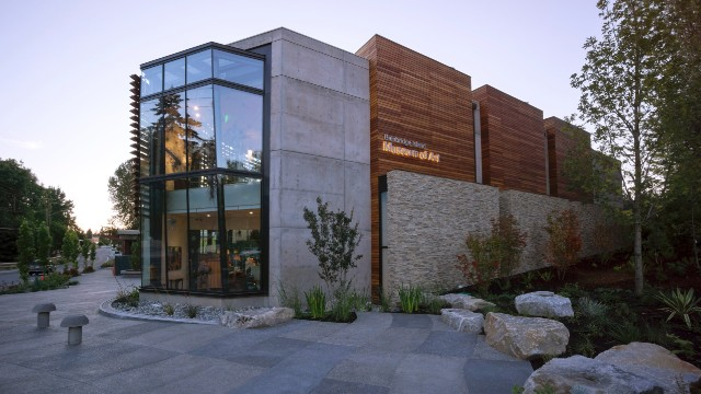 Take the ferry to the new Bainbridge Island Museum of Art in Washington state. It features a lovely regional collection of contemporary fine arts and crafts.
