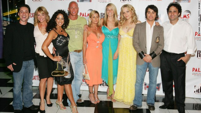 "In 2006, Handler -- pictured here, center, at the June 1, 2006, premiere of ""National Lampoon's Cattle Call"" in Las Vegas -- made her foray into late-night TV. Her first show was a sketch program called ""The Chelsea Handler Show,"" which lasted for a season. The following year, ""Chelsea Lately"" premiered on E!."
