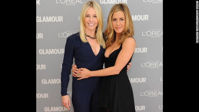 It seems the more famous Handler's become, the more she hangs out with the A-listers. Jennifer Aniston, pictured here with Handler at Glamour's 2011 Women of the Year Awards, is just one of the host's celebrity pals.