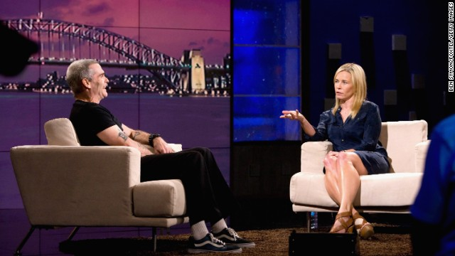 "In 2011, Handler took ""Chelsea Lately"" down under to Australia, but if you think she adjusted her act for an international audience, you'd be wrong. When Henry Rollins arrived on the ""Lately"" set, <a href='https://www.youtube.com/watch?v=lG08Ah4kU1o' target='_blank'>Handler was just as raw as ever. </a>"