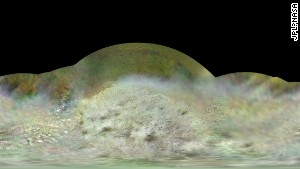 NASA released a global color map of Neptune\'s moon, Triton, to mark the 25th anniversary of Voyager\'s fly-by of the planet and its moon.