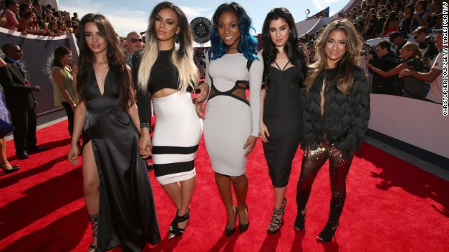From left, Camila Cabello, Dinah Jane Hansen, Normani Hamilton, Lauren Jauregui, and Ally Brooke of the group Fifth Harmony