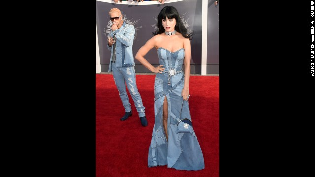 Riff Raff and singer Katy Perry