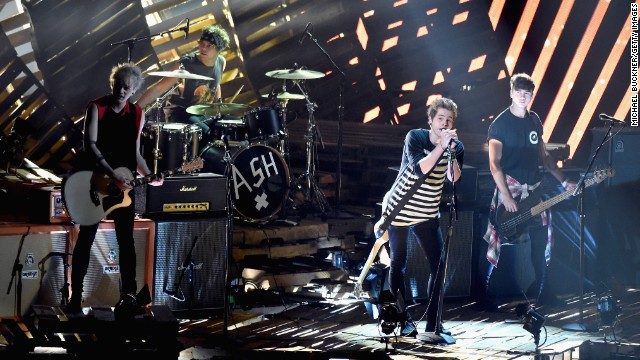 Meet your new boy band: 5 Seconds of Summer (from left, Michael Clifford, Ashton Irwin, Luke Hemmings, and Calum Hood).