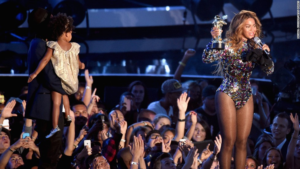 Call it the <i>Bey</i>-MAs. Beyonce turned out the MTV 2014 Video Music Awards at the Forum in Inglewood, California, on August 24. As the recipient of the Michael Jackson Video Vanguard Award, Beyonce proved why she's the greatest living entertainer, as her husband Jay Z put it. Beyonce performed a medley of songs from her recent self-titled album that got everyone -- including her daughter Blue Ivy -- clapping along. See more highlights from the show.