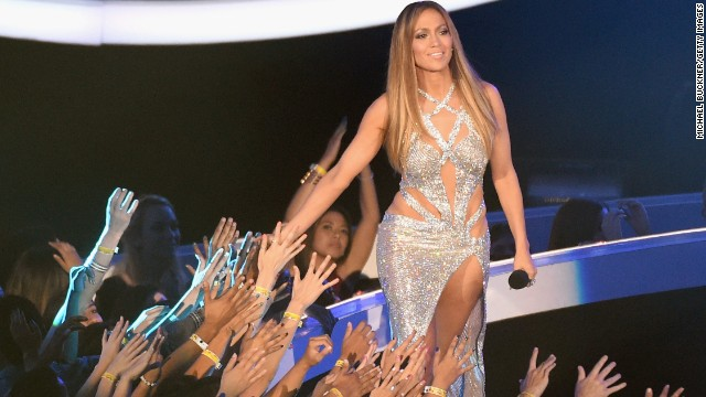 Jennifer Lopez presents at the 2014 MTV Video Music Awards.
