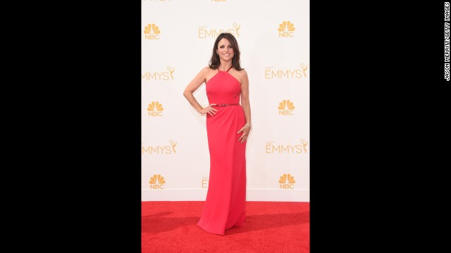 "Stars such as ""Veep""s"" Julia Louis-Dreyfus arrived in style at the 66th Emmy Awards on August 25. Take a look at some of the best red carpet looks (TV shows the star is known for are noted in parentheses)."