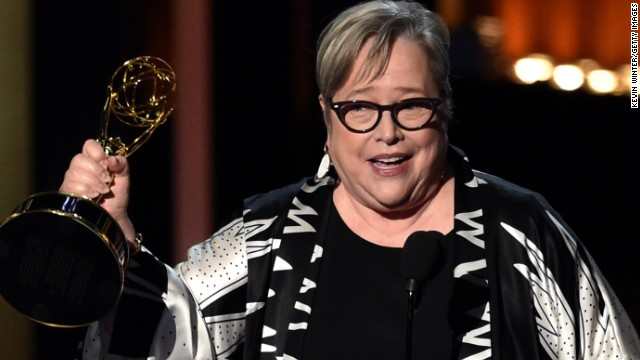 "When Kathy Bates snagged the outstanding supporting actress in a miniseries or movie Emmy, she seemed genuinely surprised as she had spotted the accountants who handle the results earlier. ""(T)he first place I went when I got here was the green room and there were guys in there with the little silver suitcase and they had it open. ... they caught my eye when I walked in and they both kind of tilted their heads in that sort of social worker, 'I'm sorry' way."""