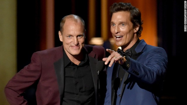 "The magical duo of Harrelson and McConaughey was one of the best parts of the 2014 Emmys, as evidenced by how often host Meyers pulled them out for jokes. When the ""True Detective"" co-stars took the stage, we all got a glimpse of their Southern-accented bromance. ""You won an Oscar, Sexiest Man Alive, and now you want an Emmy too,"" Harrelson said to McConaughey who retorted, ""I think that you should have gratitude for what you have, and not envy what I do."""