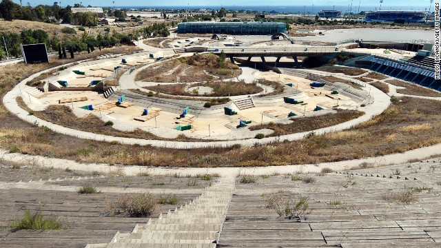 The Olympic Canoe and Kayak Slalom Center lies eerily silent and in ruin for all to see.