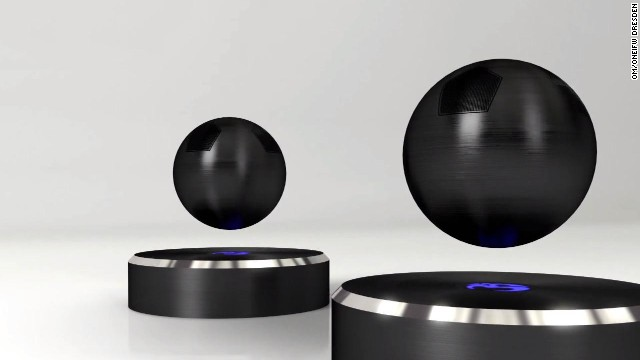 California company Om/One is also entering the world of floating interior design -- creating the world's first floating speaker.