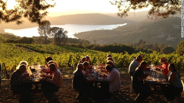 As well as offering the chance to taste 10 perfect wines (scoring 100 points according to Robert Parker) the Napa Valley Experience features a private party at Chappellet Winery overlooking the area.