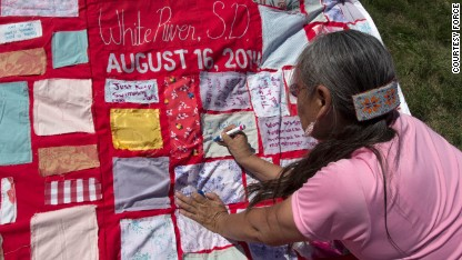 Quilt tells rape survivors' stories