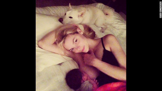 "Model Jaime King breastfeeds her son James in this intimate moment. King <a href='http://instagram.com/p/o_zxrKt1Ky/' target='_blank'>had a message</a> to spread along with the photo: ""Breastfeeding should not be taboo -- and bottle feeding should not be judged -- it's ALL fun for the whole family:)"""