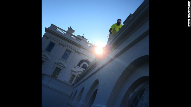 "WASHINGTON, DC: ""A fresh coat of paint hits the White House walls this morning. A painter hangs over the ledge of the West Wing of the WH as the sun peeks behind him."" - CNN's Khalil Abdallah, August 26. Follow Khalil (<a href='http://instagram.com/madcameraman' target='_blank'>@madcameraman</a>) and other CNNers along on Instagram at <a href='http://instagram.com/cnn' target='_blank'>instagram.com/cnn</a>."