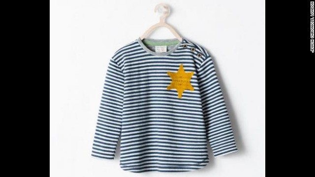 "Spanish fashion retailer Zara apologized in August for selling a striped T-shirt that drew criticism for its resemblance to uniforms worn by Jewish concentration camp inmates. Zara said the garment, advertised online as a striped ""sheriff"" T-shirt, was inspired by ""the sheriff's stars from the Classic Western films."""