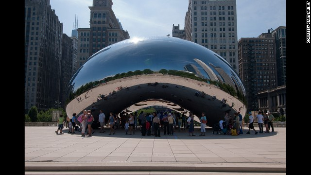 Chicago's Millennium Park features cutting edge architecture and art, including Cloud Gate, shown here, which is British artist Anish Kapoor's first public outdoor work in the United States.