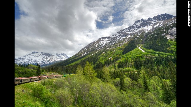 Skagway in Alaska was the starting point for the Klondike gold rush, which is why it swells in the summer months with cruise ship passengers. Book a trip on the White Pass & Yukon Route Railroad to travel the same route prospectors took to get to the Yukon.