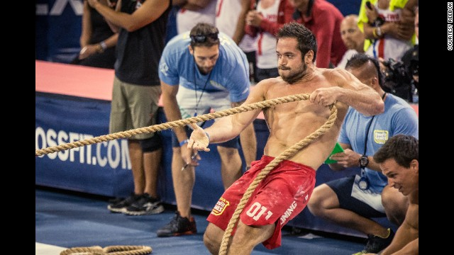At the Games, athletes participate in a wide variety of challenges such as the <a href='http://games.crossfit.com/workouts/games' target='_blank'>Push Pull</a>, which includes a series of handstand push-ups and sled pulls.