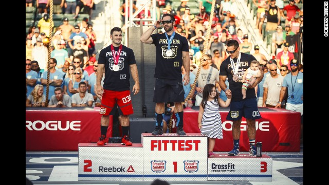 But after a long weekend, Froning emerged with his fourth title of Fittest Man on Earth. He was joined on the podium by Mathew Fraser, left, and Jason Khalipa.