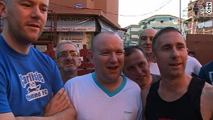 In San Sebastian de los Reyes, these Englishmen completed their first-ever bull running.