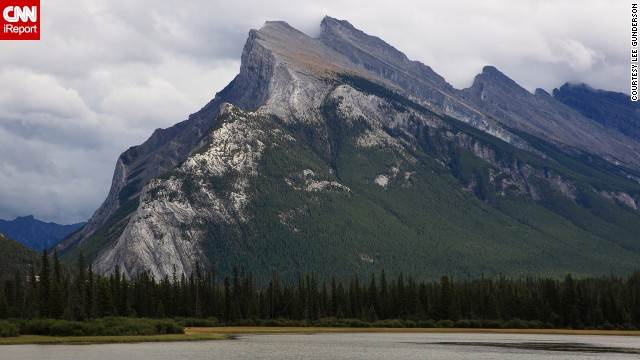 """The awesome view of this mountain just makes the soul want to relax,"" said Lee Gunderson, who photographed <a href='http://ireport.cnn.com/docs/DOC-1029583'>Mount Rundle</a> during a trip to Banff National Park in Alberta, Canada, in August 2013."