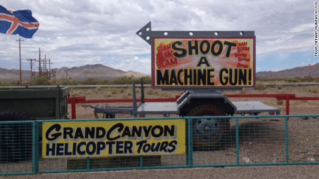 A girl killed a gun instructor as he was teaching her to shoot an Uzi at this Arizona outdoor shooting range.