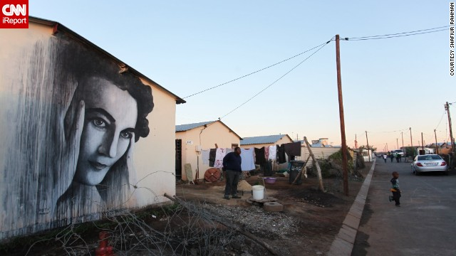 "South African anti-apartheid activist <a href='http://ireport.cnn.com/docs/DOC-1015372'>Ruth First</a> is immortalized in this mural by British graffiti artist Ben Slow. First died in 1982, but remains one of the most iconic figures of the country's struggle against the former regime. ""Street art, I believe has an especially political manifesto,"" said Shafiur Rahman, who took this photo in Soweto in 2012."