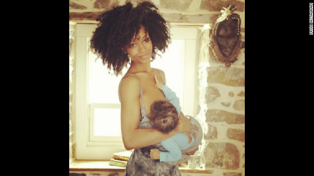 "Model and actress Yaya Dacosta posted this photo of herself feeding her son Sankara. Her <a href='http://instagram.com/p/lv4qTikeIC/ ' target='_blank'>message</a>: ""vitamins for society! #normalizenursing"""