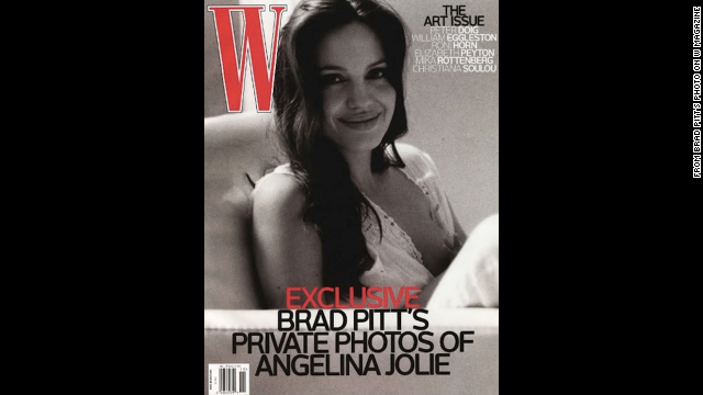Actor Brad Pitt took this W magazine cover photo of his partner<a href='http://www.wmagazine.com/people/celebrities/2008/11/brad_pitt_angelina_jolie/' target='_blank'> Angelina Jolie</a> while she breastfed one of their twins in 2008.