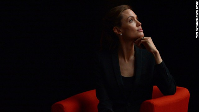 Jolie listens to a speaker during the Global Summit to End Sexual Violence in Conflict, which was held in London in June.