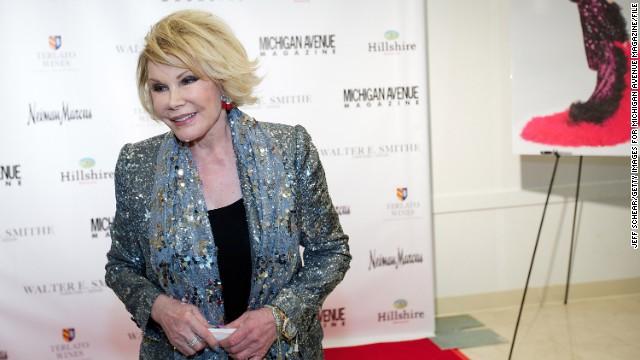Joan Rivers es hospitalizada tras sufrir una parada respiratoria