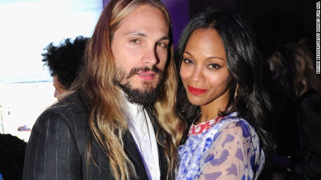 Zoe Saldana appears to be the type who'd rather show than tell. The actress and her artist husband, Marco Perego, were spotted wearing gold wedding bands in September 2013, which led to confirmation that the couple had actually married earlier that summer in front of a small gathering of family and friends. And with the couple now expecting their first child, Saldana stayed quiet until she confirmed her pregnancy by getting her husband to take the ALS bucket challenge for her.