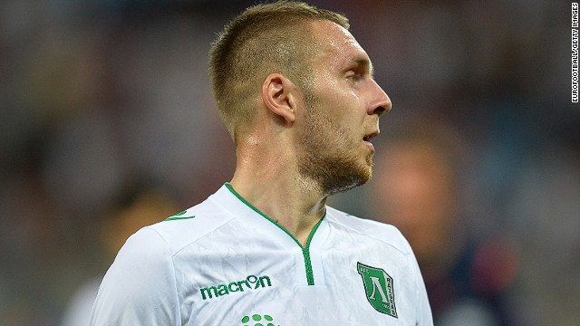 Ludogorets defender Cosmin Moti was the hero as the Bulgarian club made the European Champions League.