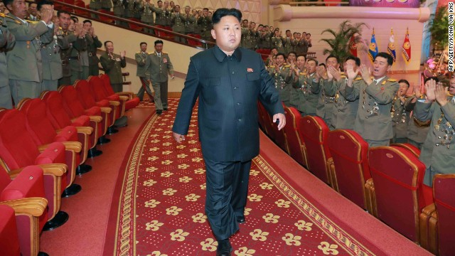 This undated picture, released by North Korea's official Korean Central News Agency (KCNA) on July 28, shows Kim attending a performance given by the State Merited Chorus at the People's Theater in Pyongyang.