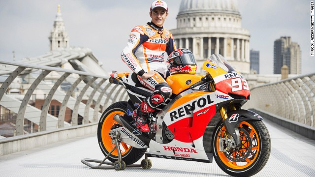 So what was MotoGP man of the moment Marc Marquez doing on London's Millennium Bridge?