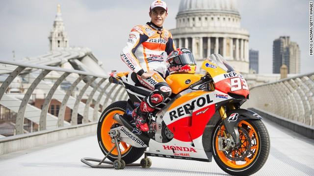 So what was MotoGP man of the moment Marc Marquez doing on London's Millennium Bridge?