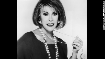 Promotional portrait of American comedian and actor Joan Rivers, 1980s. (Photo by Hulton Archive/Getty Images)