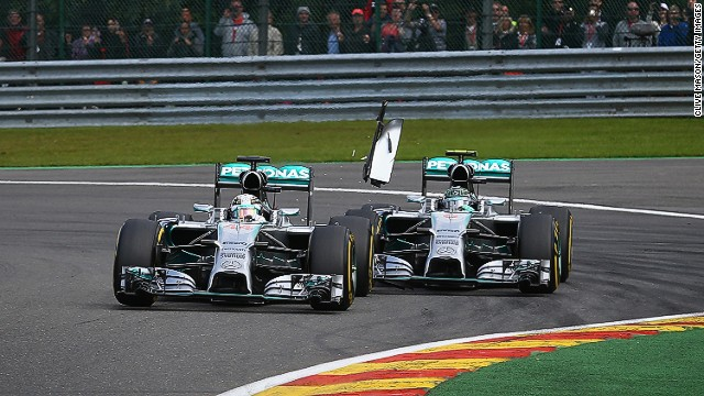 Nico Rosberg's clash with Lewis Hamilton at the Belgium Grand Prix was the latest spat between the Mercedes title rivals.