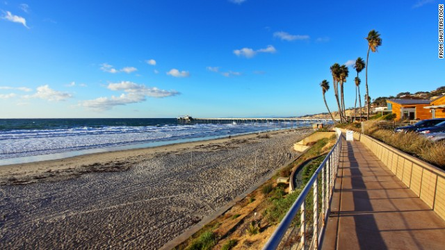 The beach community of La Jolla, California, is known for its great surfing, but the scenery is pretty nice too.