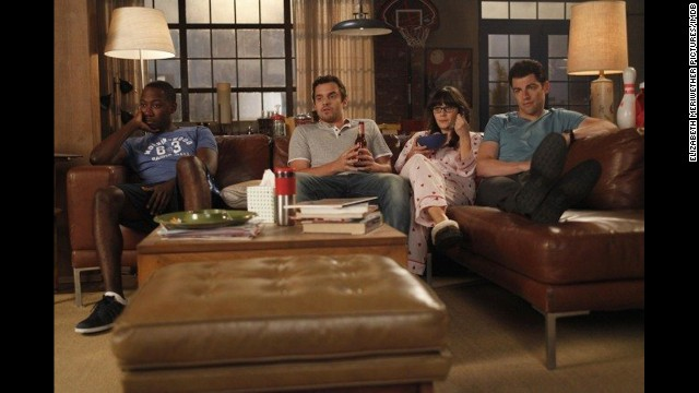 "<strong>""New Girl"" Season 3</strong>: After a breakup, a socially awkward schoolteacher (another Deschanel, Zoe) moves in with three single guys in this adorkable comedy series. (<strong>Netflix</strong>)"