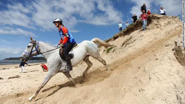 Maria Mercedes Alvarez Ponton, riding a horse named Nobby, needed just over seven and a half hours to complete the course on her way to winning gold for Spain in 2010.