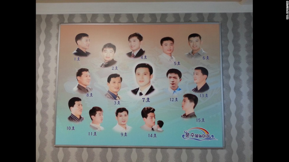 "PYONGYANG, NORTH KOREA: ""Haircuts are chosen by number, here 1--15. We're told the most popular is 7."" - CNN's Will Ripley, August 29. Will and his CNN team are in Pyongyang to attend a weekend International Pro Wrestling Festival, which is organized by Japanese wrestling star turned politician Kanji ""Antonio"" Inoki. For more captures from North Korea, follow Will (<a href='http://instagram.com/willripleycnn' target='_blank'>@willripleycnn</a>) & CNN's Tim Schwarz (<a href='http://instagram.com/tjschwarz' target='_blank'>@tjschwarz</a>) along on Instagram."