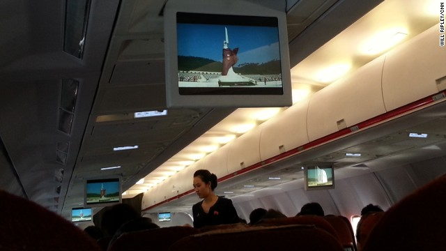 North Korea in-flight videos show the monuments & attractions of Pyongyang.