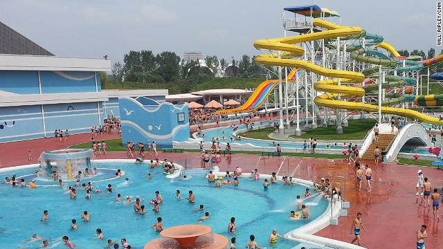 We're told this Pyongyang water park is a pet project of Kim Jong Un. Our North Korean government minders say he's quite a sportsman.