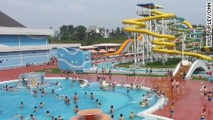 We're told Kim Jong Un scrutinized water park plans 113 times and had high ranking North Korea officials safety test slides.