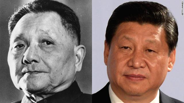 (Left) Deng Xiaoping ruled as